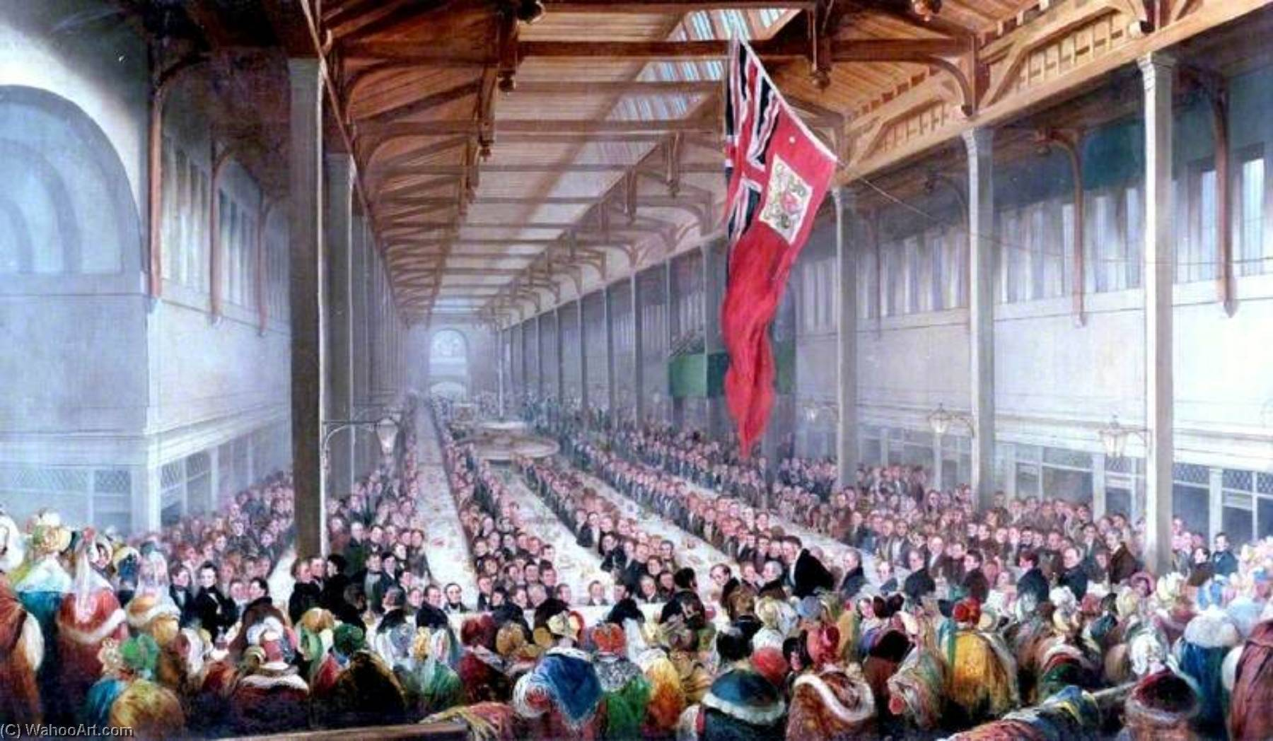 The Banquet Given on the Occasion of the Opening of the Grainger Market, Newcastle upon Tyne, 1835, 1835 by Henry Perlee Parker | Oil Painting | ArtsDot.com