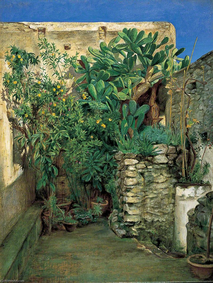 Corner of an Eastern Courtyard by Henry Wallis (1830-1916) | Museum Art Reproductions | ArtsDot.com