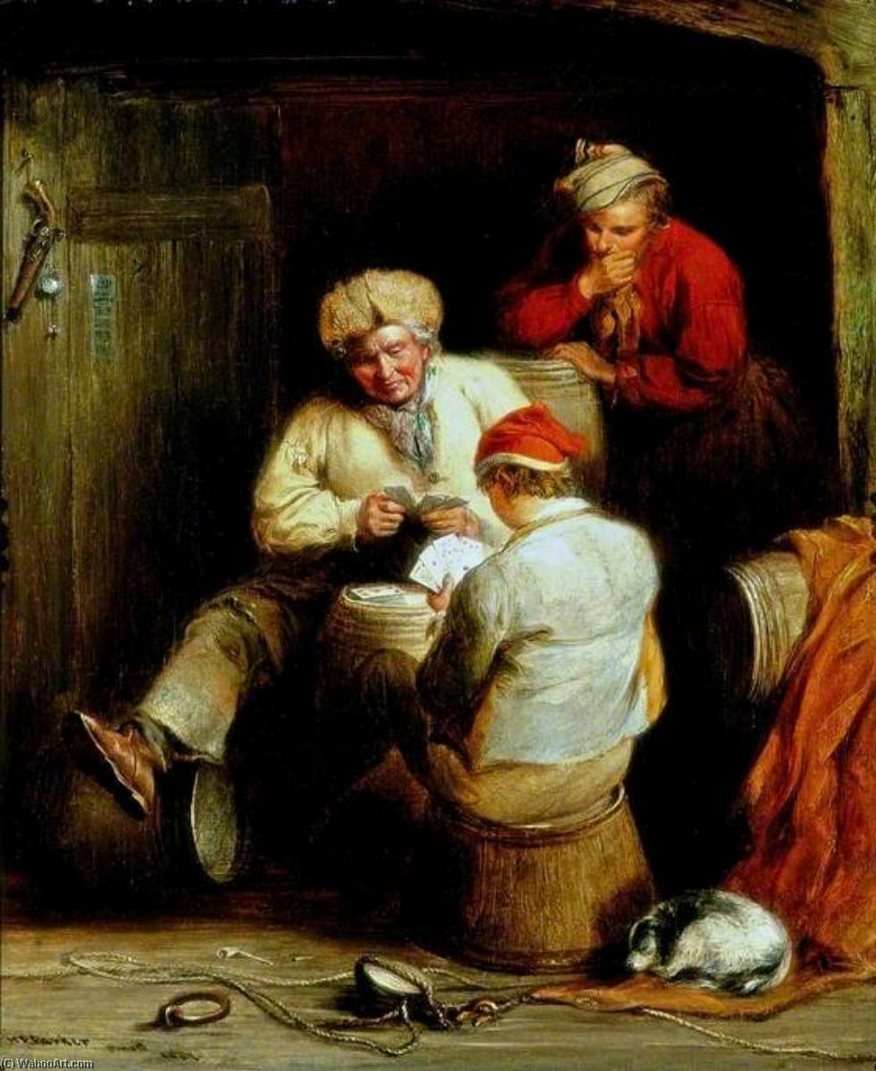 Smugglers Playing Cards, 1847 by Henry Perlee Parker | Art Reproduction | ArtsDot.com