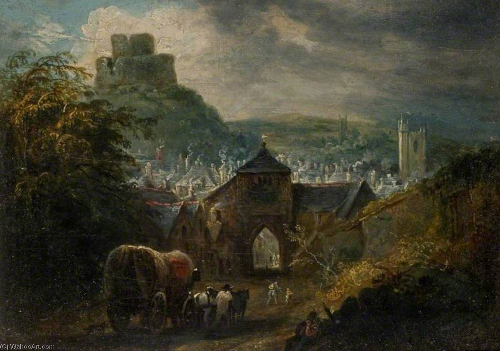 Glastonbury, Somerset by Henry Perlee Parker | Oil Painting | ArtsDot.com