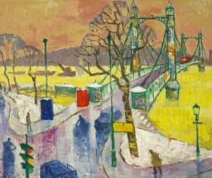 Julian Trevelyan - Albert Bridge