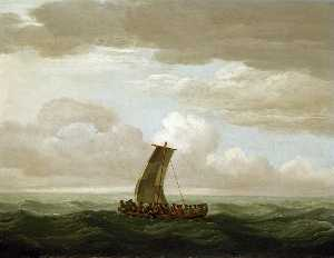 John Cleveley The Elder - Escape from the -Luxborough- Galley