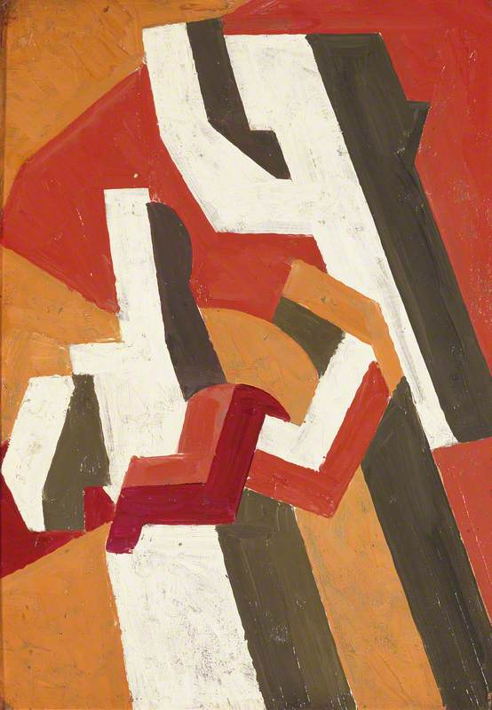 Figure Composition, 1913 by David Garshen Bomberg (1890-1957, United Kingdom) | Museum Quality Reproductions | ArtsDot.com