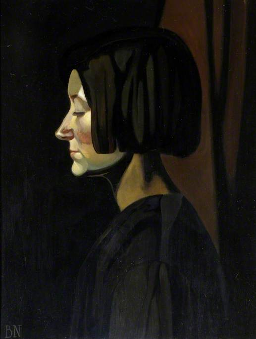 1917 (portrait of Edie), 1919 by Ben Nicholson (1894-1982, United Kingdom) | Museum Quality Reproductions | ArtsDot.com
