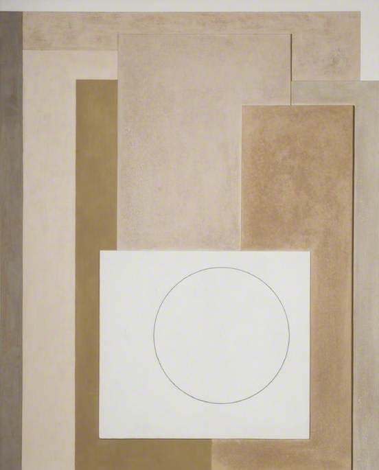 1944–45 (painted relief Arabian desert), 1945 by Ben Nicholson (1894-1982, United Kingdom) | Painting Copy | ArtsDot.com