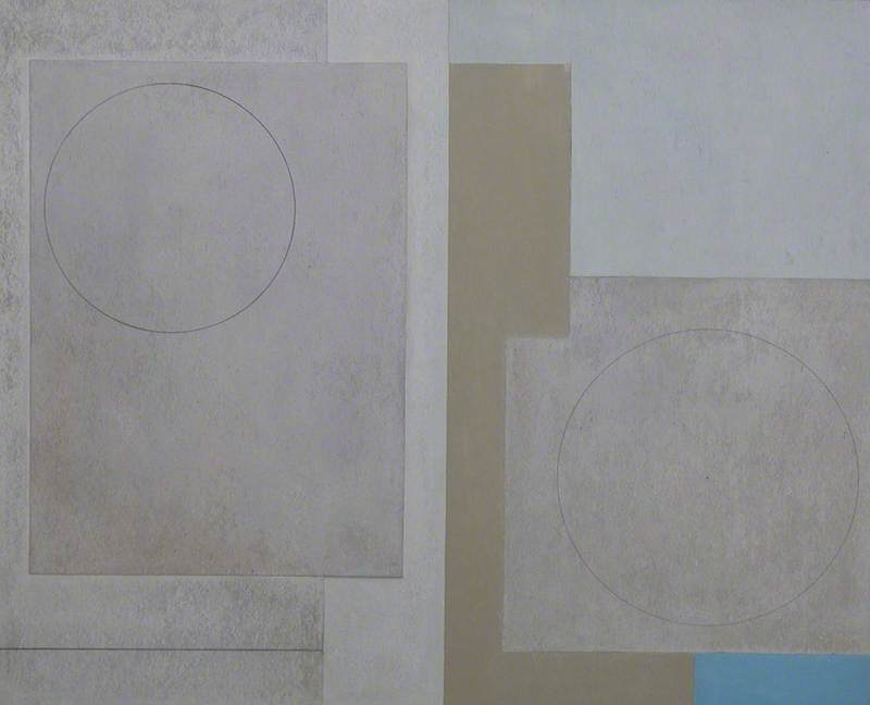 c.1943–1947 (composition abstract squares), 1947 by Ben Nicholson (1894-1982, United Kingdom) | Oil Painting | ArtsDot.com