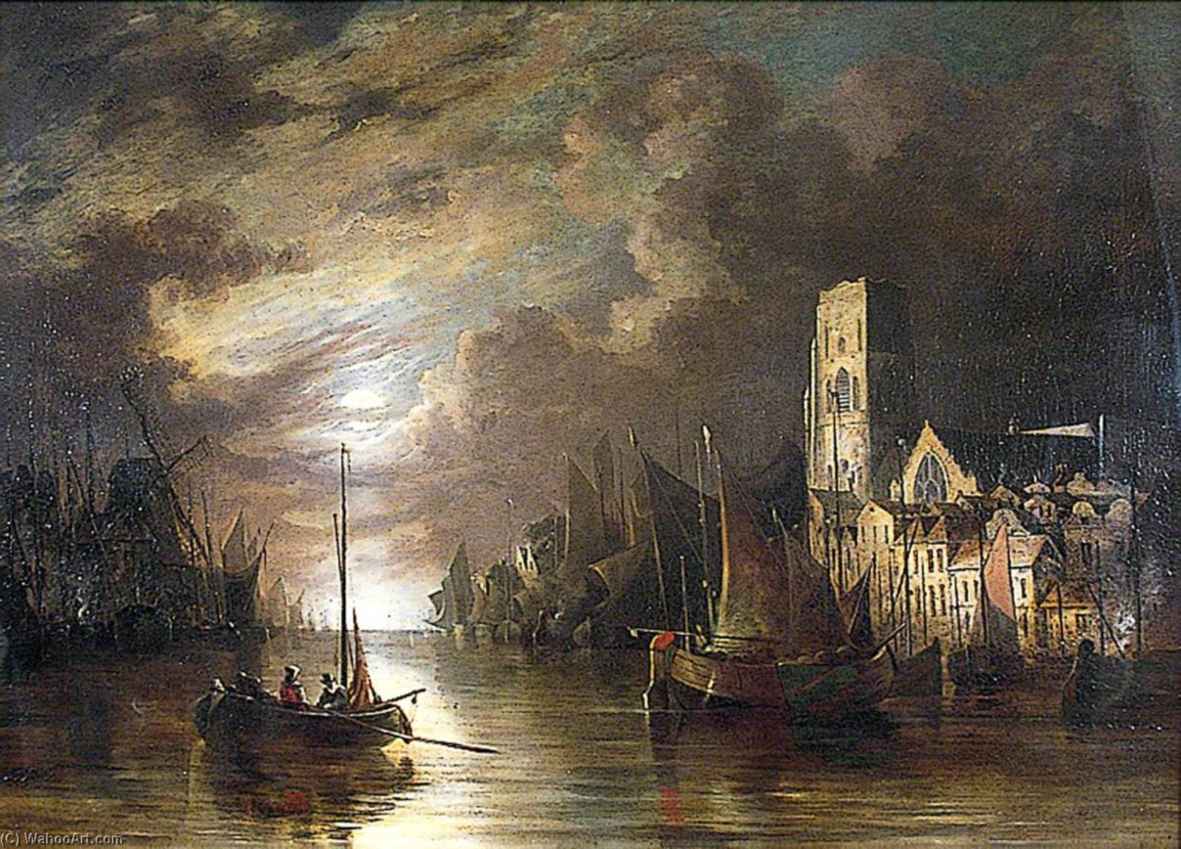 Amsterdam, The Netherlands, 1820 by John Berney Crome (1768-1821) | Oil Painting | ArtsDot.com