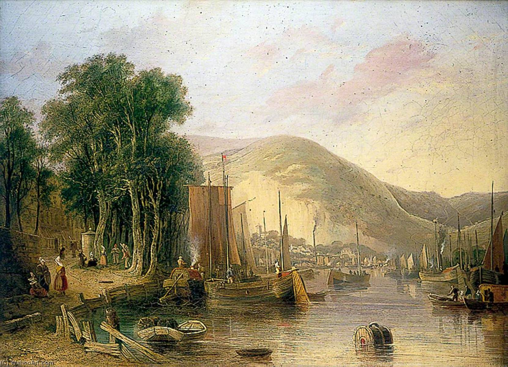 Rouen, France, 1823 by John Berney Crome (1768-1821) | Painting Copy | ArtsDot.com
