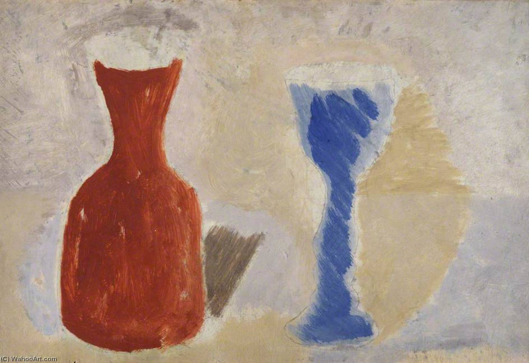 1925 (jar and goblet), 1925 by Ben Nicholson (1894-1982, United Kingdom) | Art Reproduction | ArtsDot.com
