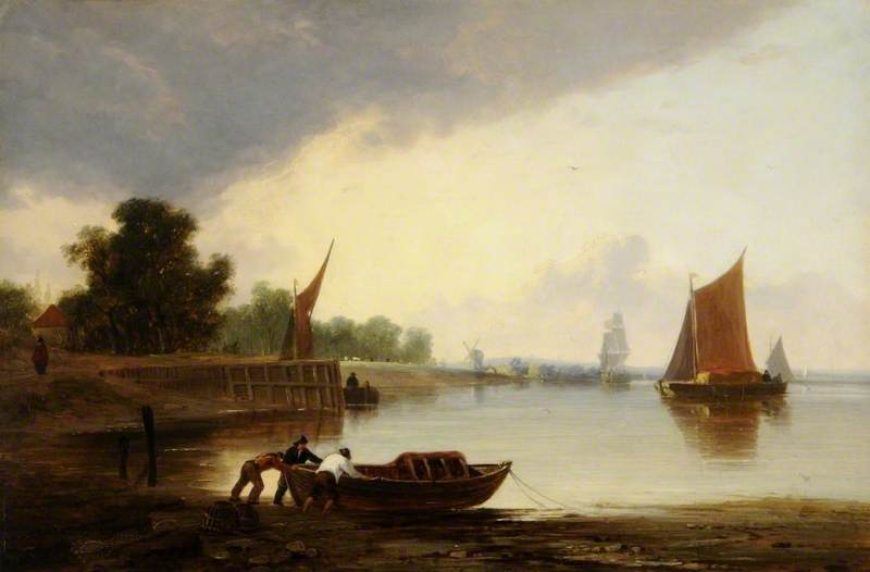 On the Yare, Norfolk by John Berney Crome (1768-1821) | Painting Copy | ArtsDot.com