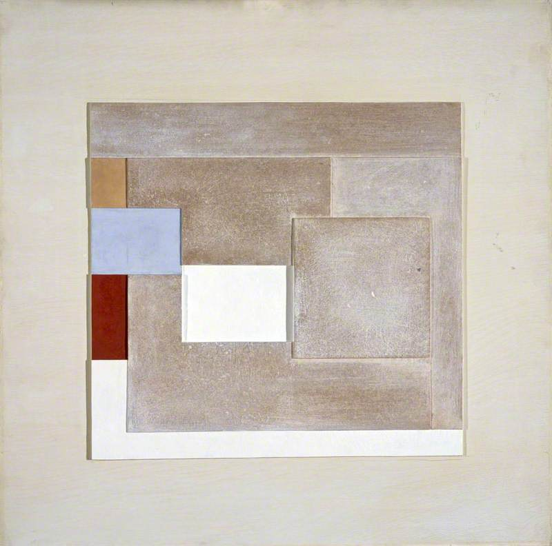 1940 (painted relief plover`s egg blue), 1940 by Ben Nicholson (1894-1982, United Kingdom) | Museum Quality Reproductions | ArtsDot.com