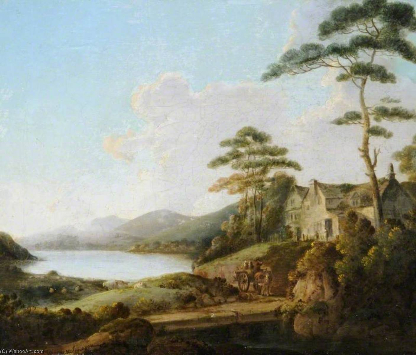 Order Art Reproductions | Lakeland Scene with a House by John Rathbone | ArtsDot.com