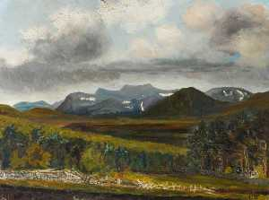 Henry Joseph Wood - View of the Cairngorms from the Ladies Turn, Dulman Bridge