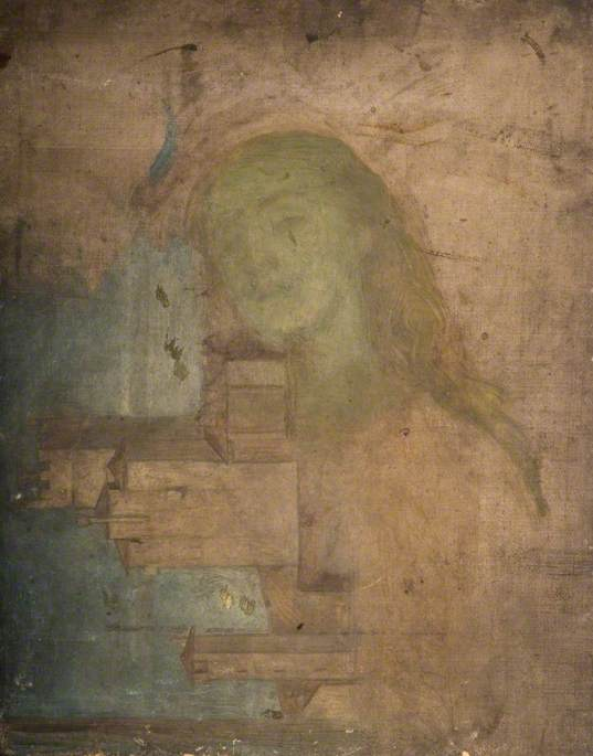 Head of a Woman Superimposed over an Italian Building by Louisa Starr Canziani (1845-1909, United Kingdom) | Reproductions Louisa Starr Canziani | ArtsDot.com