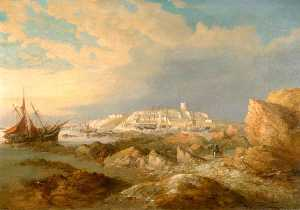 Richard Brydges Beechey - Plymouth, Mount Batten and the Hoe