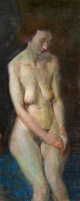 Female Nude by John Byrne | Painting Copy | ArtsDot.com
