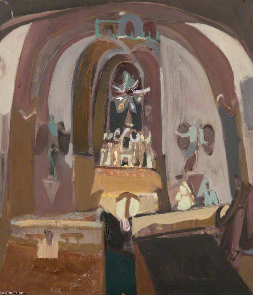 Church in Perugia by John Byrne | Oil Painting | ArtsDot.com