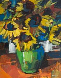 Colin Davidson - Still Life with Sunflower..