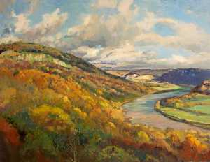 Donald Henry Floyd - The Wye Valley below Wynd..