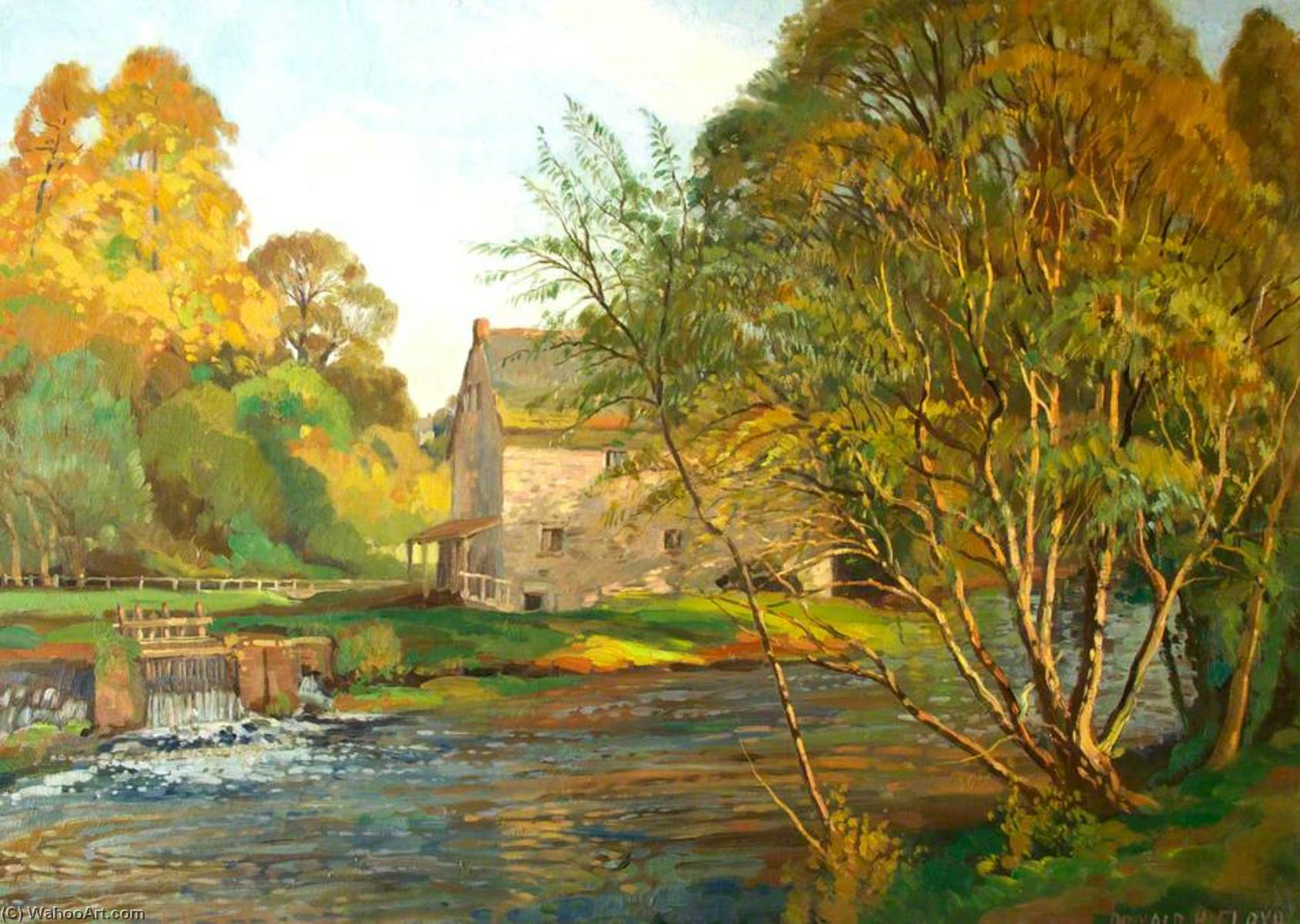 Monnow Mill by Donald Henry Floyd (1892-1965) | Museum Quality Reproductions | ArtsDot.com