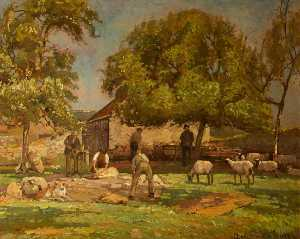 Donald Henry Floyd - Sheep Shearing, Caldicot