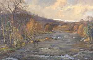 Donald Henry Floyd - Early Spring in Llangynid..