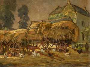 Donald Henry Floyd - Hay Wagons