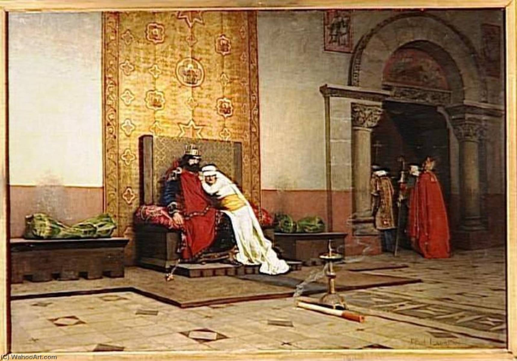 L`excommunication de Robert le Pieux by Jean-Paul Laurens (1838-1921, France) | Art Reproduction | ArtsDot.com
