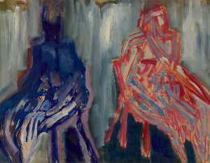 Cliff Holden - Two Seated Figures