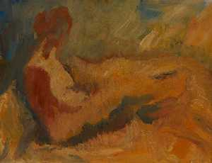 Cliff Holden - Female Nude Reclining (ve..