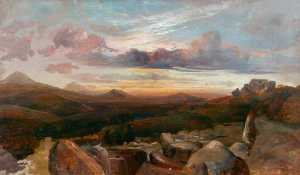 Alfred Clint - Landscape with Mountains and Rocks