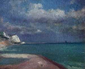 Théodore Casimir Roussel - Approaching Storm, Dover,..