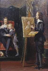 John Everett Millais - Charles I and his Son in the Studio of Van Dyck