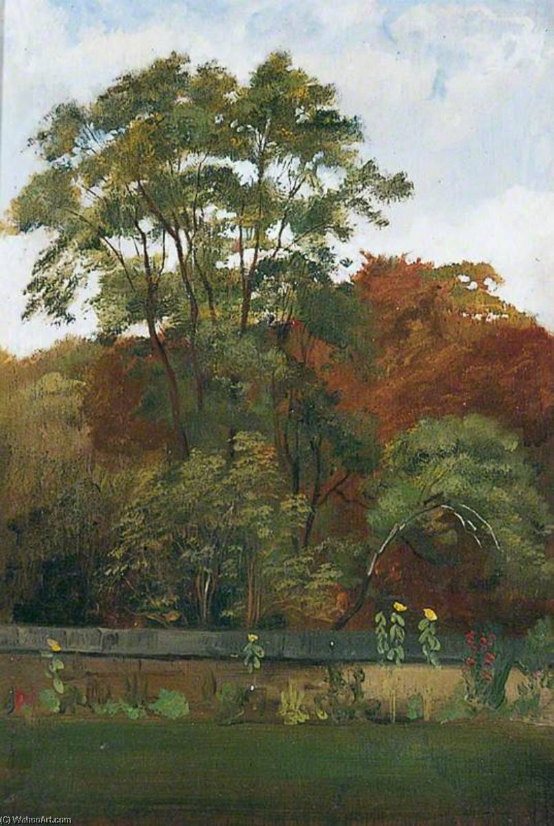Outer Courtyard and Glade at Naworth by George James Howard (1843-1911) | Museum Art Reproductions | ArtsDot.com