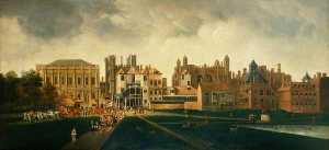 Hendrick Danckerts - Whitehall from St James's..