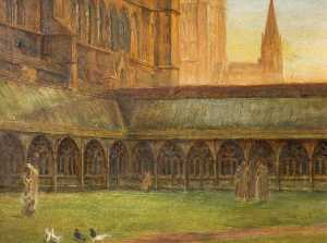 Edward Richard Taylor - Lincoln Cathedral, the Cl..