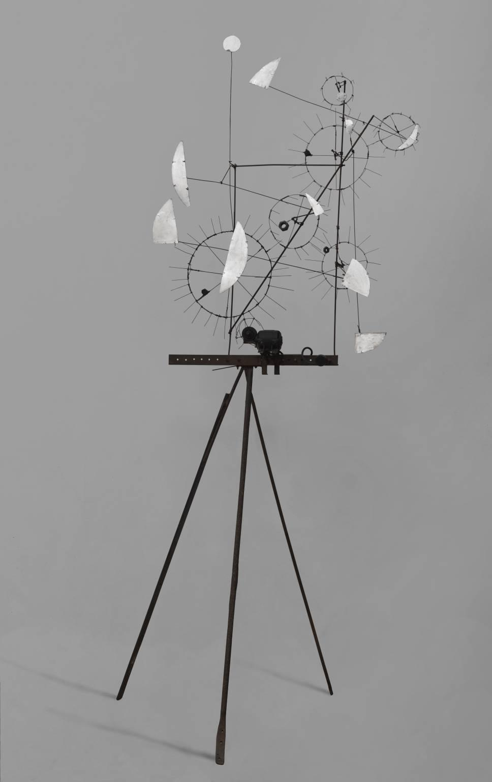 Order Paintings Reproductions | Metamechanical Sculpture with Tripod, 1954 by Jean Tinguely (1925-1991, Switzerland) | ArtsDot.com