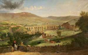 James Howe Carse - Uppermill from Dobcross, ..