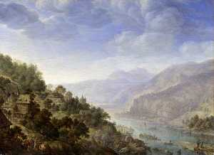 Herman Saftleven The Younger - View on the Rhine