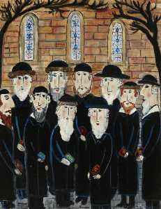 Dora Holzhandler - Group of Jews The Minyan