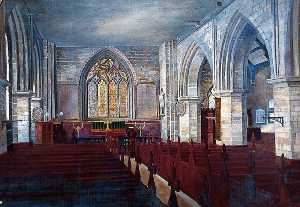 Walter Harvey Brook - The Interior, Holy Trinity Priory, York