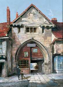 Walter Harvey Brook - The Gatehouse at Holy Trinity Priory, York