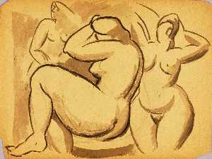 Carl Newman - Three Female Nudes