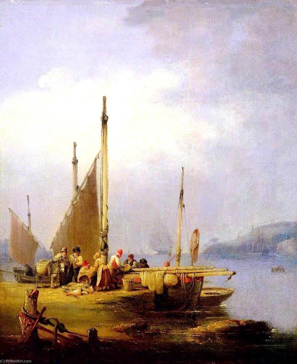 Harbour Scene by Nicholas Matthew Condy (1816-1851) | Museum Art Reproductions | ArtsDot.com