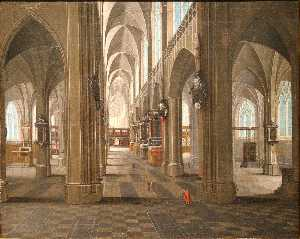 Pieter Neefs The Elder - Interior of the Notre Dame Cathedral in Anvers