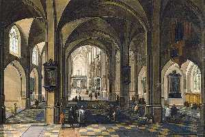 Pieter Neefs The Elder - Interior of a Gothic Cathedral