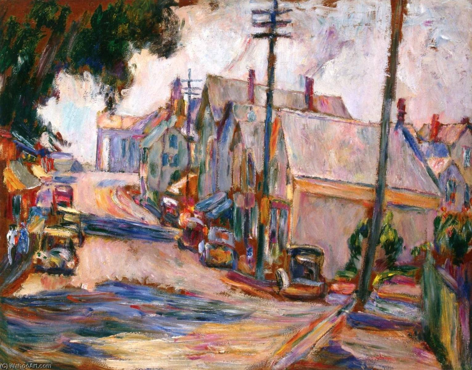 Gloucester, Massachusetts, 1933 by Abraham Manievich | Museum Quality Reproductions | ArtsDot.com