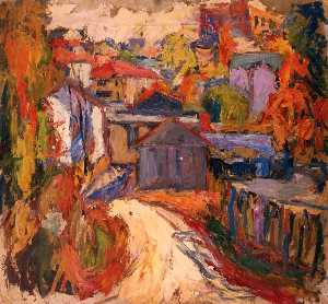 Abraham Manievich - Étude, Study with Houses