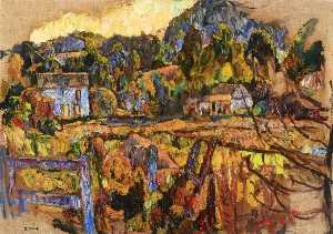 Abraham Manievich - Landscape with Fence