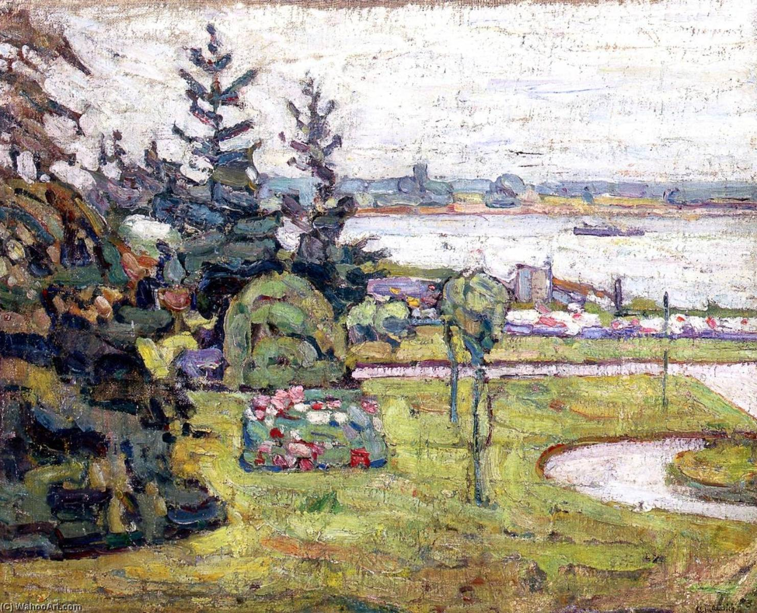 The Dnieper, Kiev, 1911 by Abraham Manievich | Painting Copy | ArtsDot.com